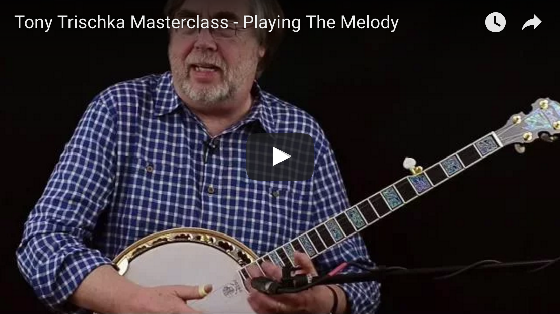 Tony Trischka how to play the melody on the banjo video